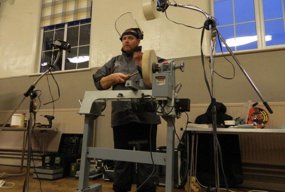 September's Demo – Chris Fisher the Blind Woodturner
